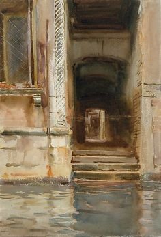 John Singer Sargent - Venetian Passageway