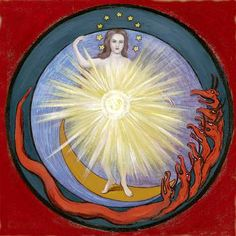 "5. Apocalypse Seal: Woman Clothed with the Sun - from the book ""Art Inspired by Rudolf Steiner: An Illustrated Introduction"" by John Fletcher"