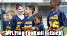 Mississauga Flag Football Registration is Open.  Only $125.  Ages 7 - 12.  End of May - end of July.