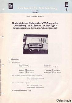The VW Type 3 Blaupunkt Wolfsburg Emden radio installation manual was published by the Volkswagenwerk VW Dienst The instructions explains how to. Volkswagen Type 3, Vw, Radios, Radio Vintage, Accessories, Wolfsburg, Work Shop Garage