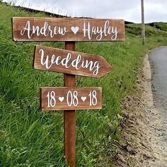 Large Wedding Signpost Rustic Wooden Personalised Wedding This