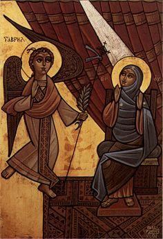 The-Annunciation Coptic icon @ Pravmir.com