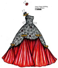 black-lace-and-red-satin-ballgown-with-gold-bats-tabbed