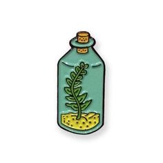 Terrarium Plant Enamel Pin by PityPartyStudios on Etsy
