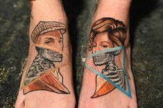 Jc Leyendecker, Neo Traditional Tattoo, Foot Tattoos, Tattoo Artists, Watercolor Tattoo, Hollywood, Instagram, Temp Tattoo, New School Tattoos