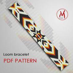 Loom Bracelet Patterns, Beaded Bracelets Tutorial, Bead Loom Bracelets, Bead Loom Patterns, Weaving Patterns, Macrame Tutorial, Macrame Bracelets, Stitch Patterns, Bead Loom Designs