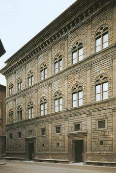 Znalezione obrazy dla zapytania palazzo rucellai leon battista alberti