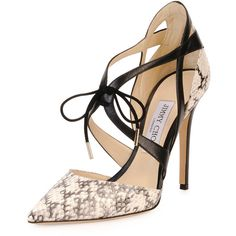 Jimmy Choo Lapris Snakeskin Ankle-Wrap Pump (5.310 VEF) ❤ liked on Polyvore featuring shoes, pumps, heels, stiletto pumps, heels & pumps, heels stilettos, ankle strap shoes и jimmy choo pumps