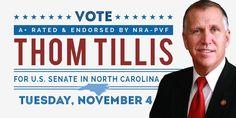 "NRA-PVF endorses ""A+"" rated @ThomTillis https://www.nrapvf.org/articles/20140908/nra-endorses-thom-tillis-for-us-senate-in-north-carolina… #NRAendorsed #2A #NRA #northcarolina pic.twitter.com/v72vPzSgPe"