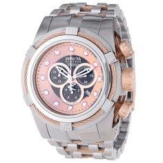 52889f88b Invicta 0823 Men's Bolt Reserve Brown Dial Steel Bracelet Chronograph Dive  Watch, Relogio Invicta,