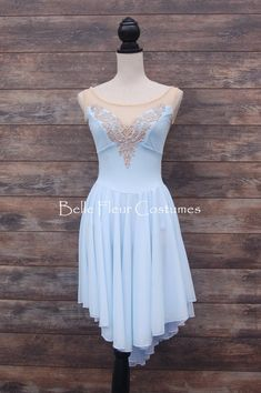 Costume Style: FORGET-ME-NOT Pictured in Sky Blue/White and with Lace Applique ***Costume is priced WITHOUT APPLIQUE! Applique can be added with the APPLIQUE ADD ON LISTING. Subject to current available styles**** Want Rhinestones? They can be added with the RHINESTONE listing. $100 for 350 Dance Outfits, Dance Dresses, Blue Dresses, Tutu Ballet, Ballerina Dress, Blue And White Style, Dance Costumes Lyrical, Ballroom Costumes, Figure Skating Dresses