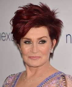 Sharon Osbourne Hairstyle - Short Straight Casual. Click to try on this hairstyle and view hair info and styling steps!