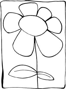 Some Common Variations of the Flower Coloring Pages | Easy