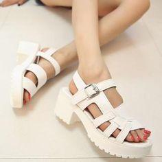 Strappy Platform Pump Sandals from #YesStyle