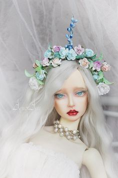 Unicorn Love OOAK flower crown handmade headband headdress