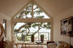 contemporary living room Fougeron Architecture --Amazing framing of view and tree