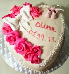 Christening cake for girls