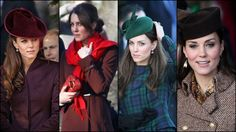 Catherine Duchess of Cambridge on Christmas Day Service at Sandringham.    2011 - 2012 - 2013 -2014