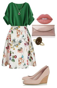 """Untitled #446"" by spectre11 ❤ liked on Polyvore featuring Yumi, L.K.Bennett, Lucky Brand, BaubleBar, Dorothy Perkins and Lime Crime"