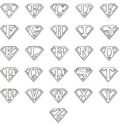 Any Letter Superman Style Rubber Stamp por SweetSpotStampShop