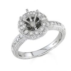 BF1377 - #23508  18 k, white diamond ring 0.48 ct. rounds (Please call for pricing)
