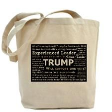 Why I'm voting for Donald Trump Tote Bag