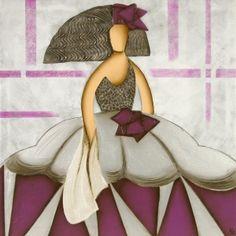Cuadro menina vestido Morado