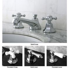 The Metropolitan chrome widespread bathroom faucet will complement many bathroom style with its classic silhouette. Crafted from solid brass with a timeless chrome finish, this faucet includes all mou