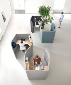 NUCLEO - Designer Office Pods from Martex ✓ all information ✓ high-resolution images ✓ CADs ✓ catalogues ✓ contact information ✓ find your. Office Cubicle Design, Office Space Design, Modern Office Design, Office Interior Design, Office Interiors, Creative Office Space, Smart Office, Modern Offices, Modern Interior