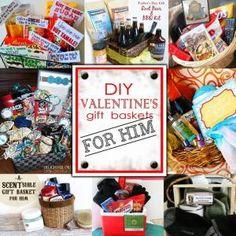 diy valentines day gift baskets for him by ashleyw