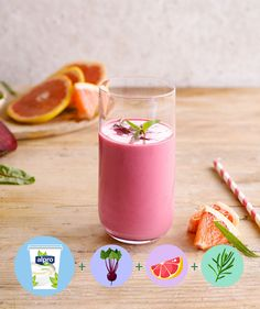 Meal of the day: breakfast - snack - smoothie. Ingredients: Alpro Simply Plain - beetroot - grapefruit - tarragon. Suited for: lactose-free - vegan - vegetarian - gluten-free. Mixed smoothie