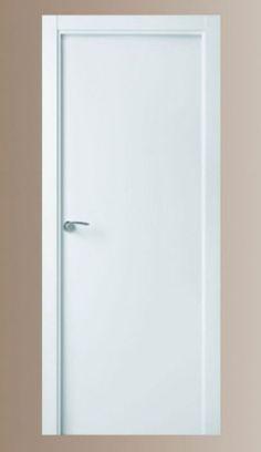 Puerta de interior lacada blanca lisa, maciza, valencia Internal Doors, Small House Plans, Door Design, Windows And Doors, Ideal Home, Tall Cabinet Storage, Sweet Home, New Homes, Minimalist