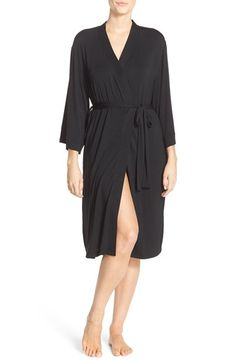 Free shipping and returns on Nordstrom Lingerie 'Moonlight' Jersey Robe at Nordstrom.com. A luxuriously soft robe, crafted from soft, stretchy modal, invites you to indulge at the beginning and end of each day. Swingy bell sleeves and a chic midi-length hem amplify its stylish appeal.