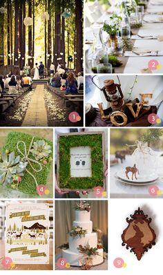 forest weddings | theme inspiration} woodland wedding | Inspire Me Weddings