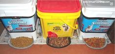 With a plastic kitty litter bin, a glue gun, scissors and a plastic tray, you can easily make your own automatic pet feeder perfect for dogs and cats.