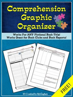 This FREE handy little graphic organizer is just the thing you need to help your students stay focused during read-aloud. It also works great for book clubs, book reports, and independent contracts. The sky is the limit! Suggestions for use included! Reading Strategies, Reading Skills, Reading Comprehension, Differentiation Strategies, Reading Buddies, Reading Workshop, Reading Resources, Book Club Books, Book Clubs