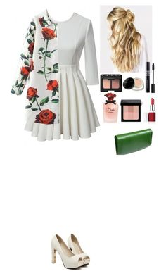 """Event Beautifulhalo"" by eliza-redkina ❤ liked on Polyvore featuring Christian Dior, NARS Cosmetics, Marc Jacobs, Clinique, Dolce&Gabbana, Bobbi Brown Cosmetics and Castello"