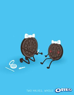 America's favorite cookie is celebrating the stuff that makes two halves, one whole. #oreo