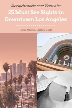 Planning a trip to Los Angeles? Then you need this ultimate list of must see attractions and amazing places to eat in beautiful Downtown Los Angeles. Find out all there is to offer in neighborhoods like Little Tokyo, the Arts District, the Historic Core, the Fashion District, Chinatown, Bunker Hill, the Financial District and South Park. #DTLA #LosAngeles #AccessibleTravel #TravelForAll #Disability #EhlersDanlosSyndrome #ChronicPain #ChronicIllness #DowntownLosAngeles #ArtsDistrict Usa Travel Guide, Travel Guides, Travel Tips, Travel Destinations, Budget Travel, Visit California, California Travel, Southern California, Airline Travel