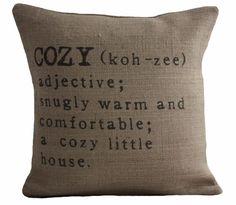 Looks like it belongs in a cozy little farmhouse! COZY by betsyjarvis on Etsy, $38.95