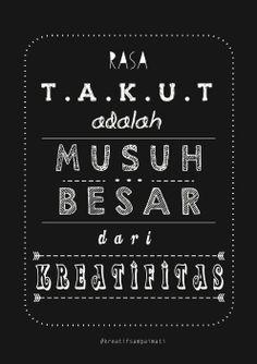 Quote from book 'kreatif sampai mati'
