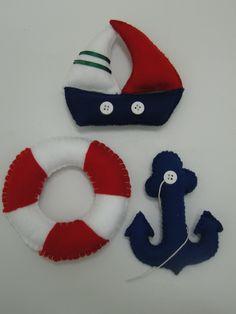 Felt Animal Patterns, Felt Crafts Patterns, Stuffed Animal Patterns, Marine Style, Felt Fish, Felt Stocking, Baby Shawer, Felt Decorations, Felt Christmas Ornaments