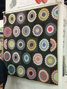 A quilt made by ModaLissa using Gardenvale with background fabrics being woven plaids from Lakeside Gatherings.  Kit please!!!