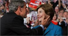 Former President George W. Bush and Laura Bush. Married in Past Presidents, Greatest Presidents, Famous American People, Laura Bush, Bush Family, Women In History, Family History, Former President, Love At First Sight