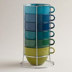 Jumbo Cool Ombre Stacking Mugs, Set of 6 ... just bought these and I'm obsessed!