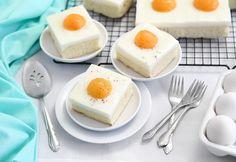 German Fried Egg Cake (Spiegeleierkuchen) Recipe on Yummly Cupcakes, Cupcake Cakes, Food Design, Sugar Cookies Recipe, Cookie Recipes, Cake Portions, Egg Cake, Dessert Blog, Hot Cocoa Mixes
