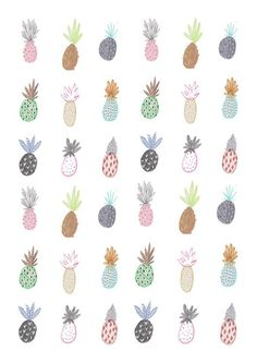 pineapple wallpaper decor - Pesquisa Google