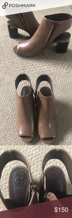 Tory Burch Jones Cut-out Bootie Brand new, never worn (without box)  Streamlined, with subtle shine: Our leg-lengthening Jones Cut-Out Bootie  elevates an ...
