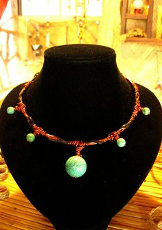 IMG_2011   Flickr - Photo Sharing! Copper Jewelry, Copper Wire, Wire Necklace, Bangles, Bracelets, Jewelries, Turquoise Stone, Wire Wrapped Jewelry, Wire Wrapping