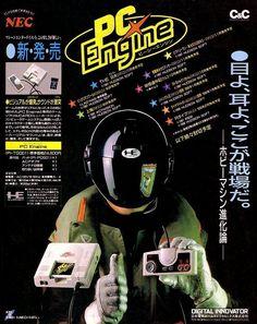Publicidad del PC Engine en japonés!
